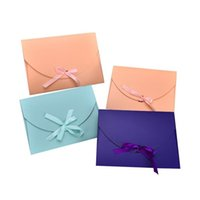 Wholesale Towel Gift Wrapping - 28*21*2cm Large Scarf Gift Box Towel Packaging Box Envelope Gift Paper Box Postcard Ribbon Bow Packing Boxes ZA5131
