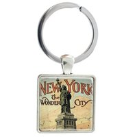 Portachiavi Statue Of Liberty Portachiavi New York The Wonder City Anello portachiavi nazionale americano AA28