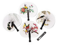 Wholesale Hand Fan Supplies - Hioliday Sale Event Party Supplies Paper Hand Fan Wedding Decoration