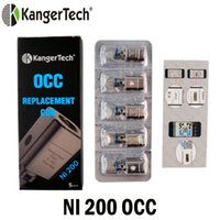 Wholesale nano electronics - Authentic Kanger Nickle OCC Coils 0.15ohm Ni200 Sub ohm Tank Replacement Coil Head Electronic Cigarettes Fit Kangertech Subtank Nano Mini