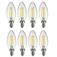 Wholesale Dimmable Cob Led Bulb - DHL LED 2Watt LED Filament Bulb,110V-220V E12 Candelabra Base, C35 Torpedo,No-dimmable 2700K Warm Soft White (25W Incandescent Chandelier