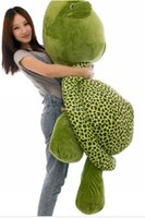 Wholesale Stuffed Green Turtle - Fancytrader 59''   150cm Lovely Stuffed Soft Giant Tortoise Turtle Toy, Christmas Gift and Decoration Toy, Free Shipping FT50059