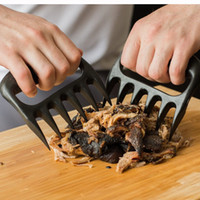 Wholesale food bbq - Bear Paws Meat Claws 6 Shred Handle Transfer BBQ Pork Poultry Beef Creative Kitchen Gadgets Food Grade Heat Resistant Plastic OPP Package