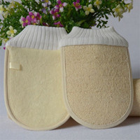 Wholesale luffa shower for sale - Group buy Natural Loofah Glove Wipe Washing Body Scrubber Exfoliator Luffa Brush Household Shower Supplies For Bath Tools Comfortable hc C