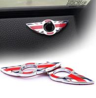 cerraduras uk al por mayor-2 unids alta calidad para MINI cooperJohn cooper R50 R52 R53 R55 cerradura de la puerta del coche / puerta pin lock modificado decoración etiqueta engomada de la bandera de UK