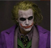 NUOVO 1/6 Batman Joker Trapianto di capelli Headplay Heath Ledger Head Sculpt