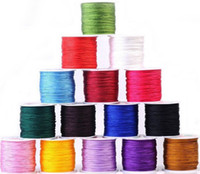 Wholesale Cord Knot Bracelet - 3MM 80m String Beading Macrame Bracelet Chinese Knot Satin Craft Rattail Nylon Cords
