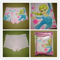 Wholesale S Dolls - Frozen Elsa Anna princess doll pattern baby child cotton Boxers underwear kid s cartoon panties girl's boxer briefs 12pcs lot