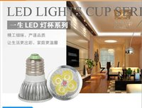 Wholesale W Dimmable warm pure cool white E27 V Led Light Lamp Spotlight bulb downlight lighting