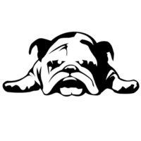 Wholesale Sticker For Tire - English Bulldog Tired Puppy Dog Rescue Vinyl Sticker For Car Window Decal Truck Bumper SUV Wall Graphics Decor Style