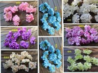Wholesale Floral Wedding Arches - Special artificial flowers silk flowers hydrangea flower head Starry curd flower floral arches