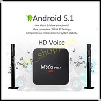 Wholesale Cs918 Android Tv - 2015 New MXQ Pro Quad Core Android 5.1 smart TV Box 4k 1080p Android tv box Amlogic S905 MXQ Pro 2.0GHZ in retail box VS M8,M8S,MXIII,CS918