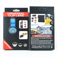Wholesale Macro Lens Digital Camera - 2016 Newest and Popular universal 3 in 1 cell phone Macro Wide Angle Fisheye lens Universal Clip Lens For Samsung iPhone HTC digital camera