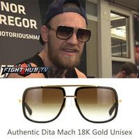 Wholesale Dita Glasses - SO REAL Dita18k Gold sunglasses men new unisex dita mach one sunglasses women brand designer sun glasses men dita glasses