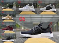 Wholesale Flax Medium - NMD XR3 Olive casual shoes Men's Women NMD XR3 Triple White Yellow Burgundy Triple Black Flax Sneakers High Quality 36-45