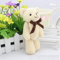 Wholesale Cheap Mini Teddies - 15cm 6 Inch 6'' mini teddy bears plush toy Teddy Bear cartoon Stuffed Animals soft doll kids toys Valentine's Day gift cheap