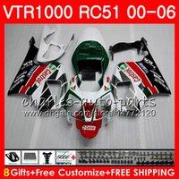 rc51 blanco al por mayor-Cuerpo para HONDA VTR1000 RC51 SP1 SP2 00 01 02 03 04 05 06 92HM1 RTV1000 VTR 1000 R 2000 2001 2002 2003 2004 2005 2006 Carenados Verde blanco