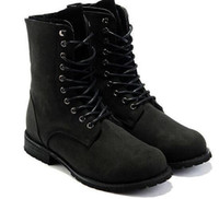Wholesale Men Wholes Boots - Whole sale Fashion Hot Ankle Boots Retro Combat Military Mens Boots Suede Shoes men outdoor boots free shipping