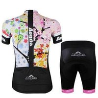 Wholesale Top Selling Cycling Jerseys - Factory Selling aogda cycling jerseys sets women's compression short top& padded cycling clothing short pants cycling jersey set