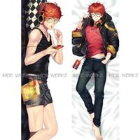 ropa de cama masculina al por mayor-Al por mayor- Buena calidad Mystic Messenger Throw Pillow Case Anime Bed Dakimakura Hombre