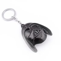 Wholesale Toy Helmet Wholesale - Keychain Of NEW Hot fashion Cartoon movie key chain toys Star Wars Darth Vader helmet alloy keychain Toys best gifts zj-0903482