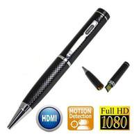 Wholesale Digital Pen Camcorder - HD 1080P 5.0 Million Pixels Spy Pen Camera Pen DVR DV Portable Hidden Microphones Camcorders Digital Video Recorder Support 32GB Card
