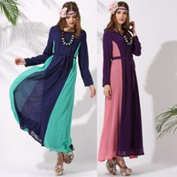 Wholesale Abaya Embroidered - Mix Color Wholesale Fashion Camisa Muslim Womenswear Abaya Islamic long dress Embroidered Pakistani