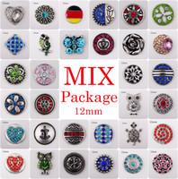 Wholesale Ginger Bag - Vocheng Noosa Clearance Sale! Mix Sales 50pcs 100pcs 200pcs 500pcs bag Random Choice12mm Ginger Snap Button Jewelry (Vn-723)