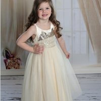 Everweekend Princess Girls Tutu Sequins Suspend Halter Dress Ruffles Beige Pink Red Color Summer Cute Children Holiday Dresses