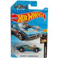 New Arrivals 2018 8b Hot Wheels 1:64 azul 68 CORVETTE-GAS MONKEY GARAGE Coleção de modelos de carros Kids Toys Vehicle For Children