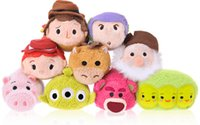 TSUM TSUMS Toy Story juguete de peluche de Kawaii Dolls animado Screen Cleaner móvil Llavero suspensión del bolso para el teléfono móvil