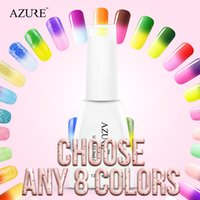 Wholesale Nail Polish Color Diy - Azure chameleon temperature change color UV gel nail polish long lasting soak off gel nail varnish DIY gel nail art