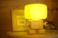 Wholesale Robot Plugs - LED light control Nightlight robot voice, creative energy-saving lamp bedroom lamp baby lamp plug, smart sensors Baymax lights