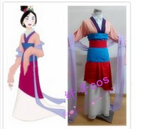 Compra Costume Di Halloween Delle Donne Asiatiche-Spedizione gratuita Custom Made Adulto Asian Hua Mulan Princess Costume Adulto Donne Halloween Cosplay Costume Party Dress