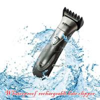 Wholesale Trimmer Machine Wholesale - Wholesale-Rechargeable Shaving Machine Electric Hair Trimmer Shaver Razor For Men RCS10-P4548