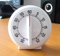 Digital Timers Plastic ECO Friendly White Colors Mini Round Shape  Mechanical Timer Kitchen Timers Cooking Laboratory
