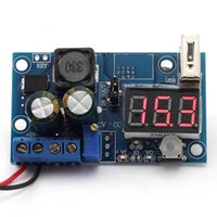 Wholesale Lm2596 Usb - New Electronic Components LM2596 DC Power Supply Adjustable Converter Step-Down Module Voltmeter +USB VE171 W0.5