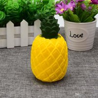 Wholesale Pineapple Bread - Kawaii Squishy pineapple slow Rising Cute Sweet fruit Charms Pendant Bread Kids Toy Gift Phone Straps