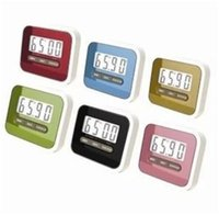 Wholesale Wholesale Kitchen Timers - Kitchen Timer Digital Kitchen Helper Mini Digital LCD Kitchen Count Down Clip Timer Alarm Colorful Meow