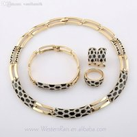Wholesale Evening Drew - Wholesale-WesternRain Italian Crystal Gold Plated Black Purple Color Drawing Or Pattern Jewelry Evening Party Prom Jewelry sets