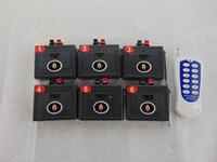 control remoto inalámbrico de fuego al por mayor-6 señales Control remoto inalámbrico Interruptor de CA fuegos artificiales Sistema de disparo control remoto Sistema de boda Transmisor controlador a prueba de agua Cable electrónico
