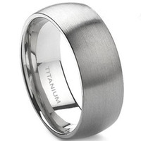 Wholesale Ring Brushed - 8MM Size 7-15 Pure Titanium Ring Brushed Wedding School Engagement Men Classic Graduation