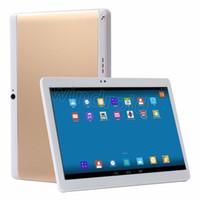 phablet desbloqueado pulgadas al por mayor-Barato 10 10.1 pulgadas MTK6582 Quad Core 3G Android 5.1 Teléfono Tablet PC 1GB 16GB 32G Bluetooth GPS IPS 1280 * 800 WiFi Phablet Dual SIM desbloqueado
