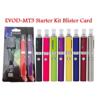 Wholesale Evod Blister Pack Dhl - 100% MT3 BCC EVOD Blister pack kit mt3 atomizer with evod 650 9001100mah battery ego charger card board starter kit DHL Free