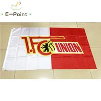 almanya bayrakları toptan satış-Almanya 1.FC Birliği Berlin 3 * 5ft (90 cm * 150 cm) Polyester bayrak Banner dekorasyon uçan ev bahçe bayrağı Şenlikli hediyeler