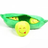 Wholesale baby dear dolls - Wholesale- A kawaii Cute Peas Shape Dear Doll Baby Kids Children Birthday Gift Children's Day Present Christmas