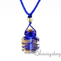 garrafas de colar de óleo essencial venda por atacado-Aromaterapia jóias aromas óleo essencial difusor de óleo difusor do difusor do vintage colar de perfume garrafa perfume difusor colar de frasco