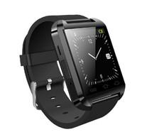 eu assisto venda por atacado-U8 android bluetooth relógio inteligente relógio de pulso para i telefone 4 4S 5 5S S5 Smartwatch eletrônico 2014 novo com controle remoto 1 pcs