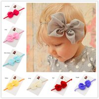 Cheap Hair Bows New Arrival Flower Best Blending Solid Headband baby girl