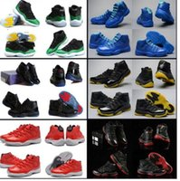 Wholesale Coloured Shoes - 19 Colours (With Box) High Quality Air Retro 11 XI Snakeskin Space Jams Legend Blue Gamma Blue Men's Basketball Trainers Sneakers Shoes